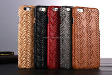 Luxury Weave Design PU Leather Back Cover Case for iPhone 6 6S