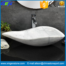 Toilet White Marble Stone Hand Carved Wash Basin Price