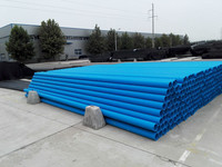 Blue water supply pipe flexible pipe Plastic PE pipe for drinkable water