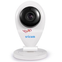 SP009 CMOS 720P H.264 3.6mm Lens 8m IR Two-way Audio ONVIF Wifi IP Camera Wireless With Max 128GB TF Card Support White