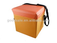 Fashion! foldable PVC cooler box storage stool,dots ottoman cooler bag storage ottoman folding fishing seats