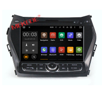 Quad core android 7.1 car dvd player gps for Hyundai IX45 Santa fe 2013 2014 2 din in dash car radio stereo wifi 4G LTE 2G RAM