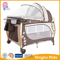 luxury foldable baby playpen 2016 new style baby crib out door folding playpen for baby