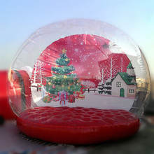 Merry Christmas inflatable human size snow globe holiday inflatable bubble inflatable yurt tent
