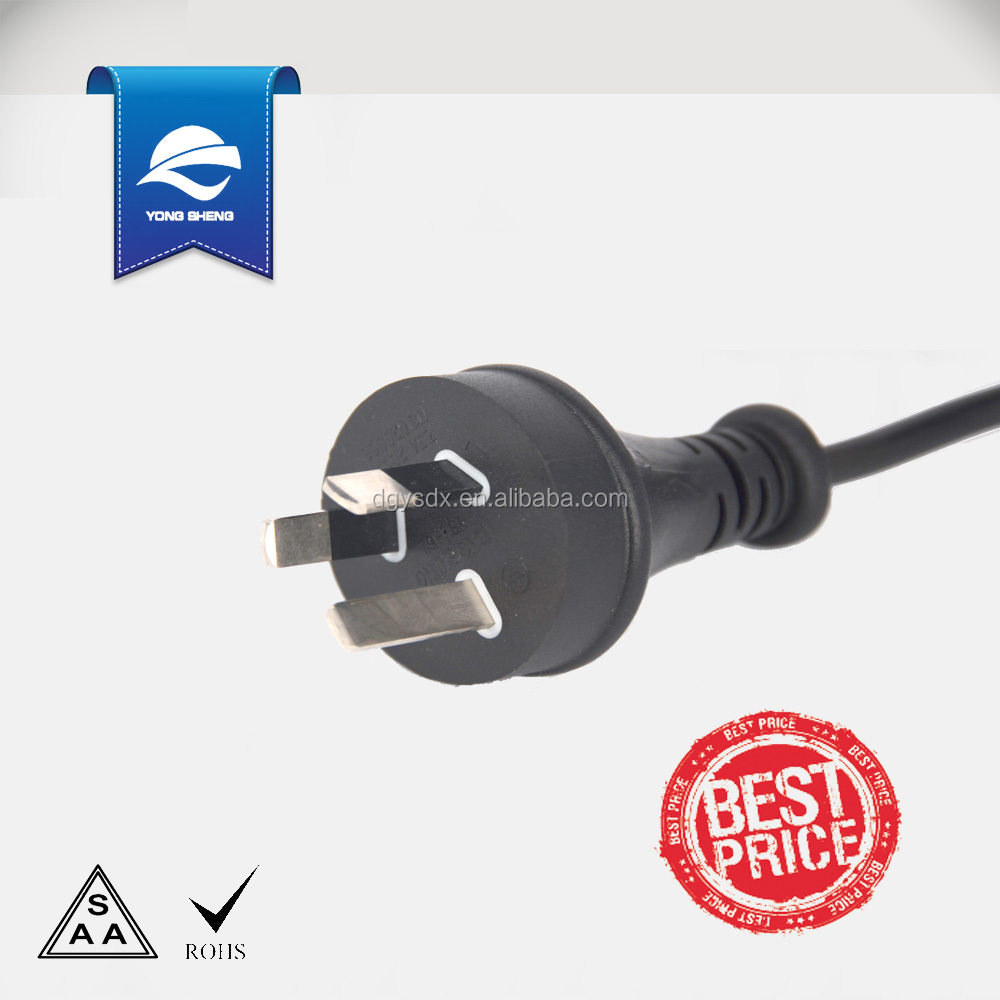 250V 3Pins Australian Plug power cable with 3pins connector