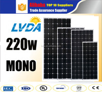 China top 10 Supplier Factory Direct Sale Solar Energy 220 Watts Germany technology mono Solar Panel