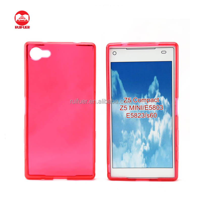 Factory Supply Soft Silicone Transparent Ultra Thin Crystal Clear TPU Case for Sony Xperia Z5 Compact Mini