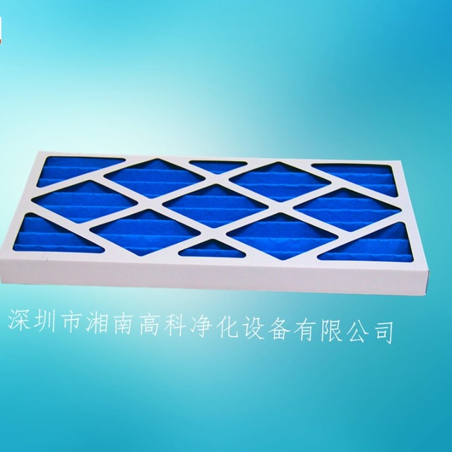 Fold-down coarse efficiency Pleated panel filters Paper box frame metal mesh pre air filter