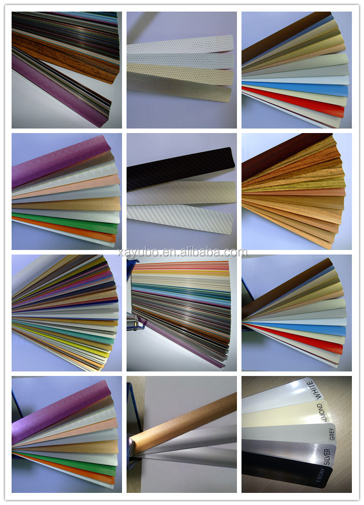 free sample metallic silver 25mm aluminum venetian blinds tapes for interior decoration