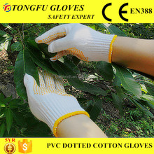 Customer Design Wholesale Industrial Impact Gloves PVC Dotted Work Glove EN388 Cotton Yarn