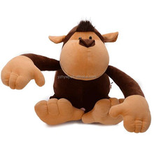 custom stiffed hot sale plush toy brown long arms the monkey toys