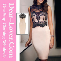 hot sale new design women casual lace tunic dress sexy bodycon dress