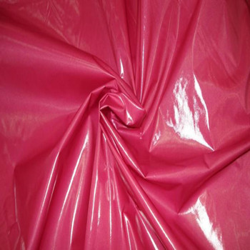 Oil cire/bright PU coatedlightweight polyester fabric,shiny coats fabric