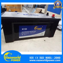 Wholesale Chinese factory Japan technology JIS Standard 12v 150ah car battery