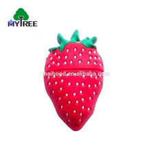 Fashion design lovely cartoon fruit shaped pen strawberry pvc shape flash usb drive