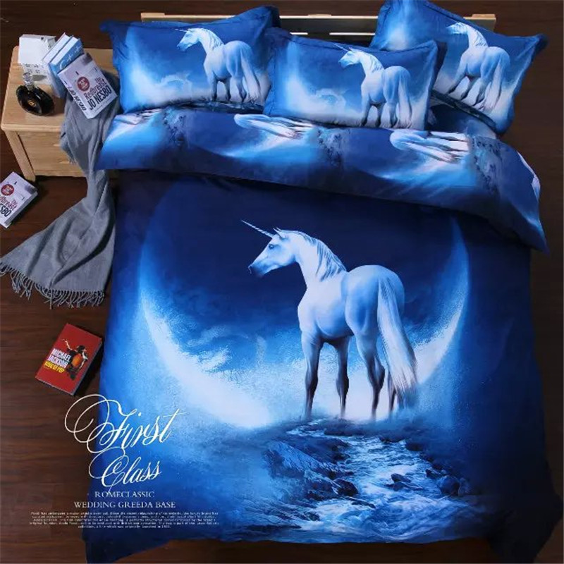 Home tetiles, 2016 New style Galay 3D 4pcs bedding set,of duvet cover bed sheet pillowcase, bedclothes,Queen size