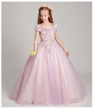 Girl Cotton Frock Design Long Baby Prom Dress Girls Kids Party Dresses