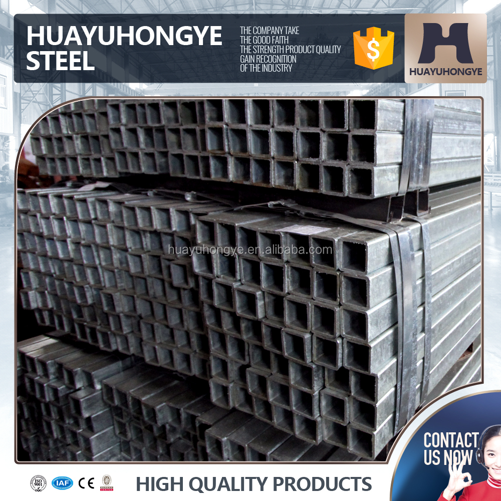 well drilling use gi square steel pipe