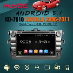 build in wifi gps bluetooth support DAB Android 5.1.1 car dvd gps for Corolla 2011