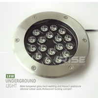 Strong waterproof ip68 outdoor inground light 18w solar garden light