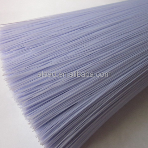 Purple color 0.30mm PVC plastic filament can be flagged in very soft tips