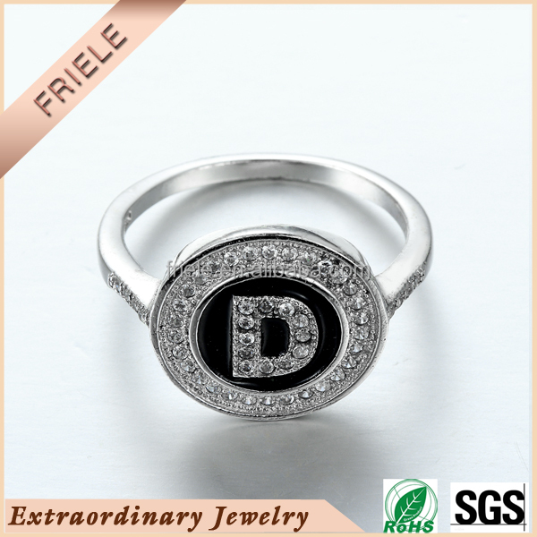 Letter D Ring wholesale 925 Sterling Silver Wedding Ring AAA CZ Infinity Ring