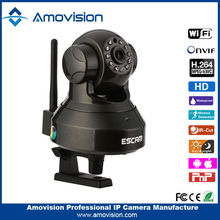 ESCAM Pearl QF100 H.264 ONVif HD 720P P2P IR-10 WiFi Dome Wireless Shenzhen cctv ip camera