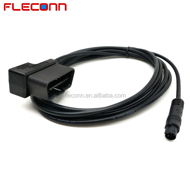 Right Angle OBD2 OBDii Power Cable for Car DVR and Automobile Event Data Recorder
