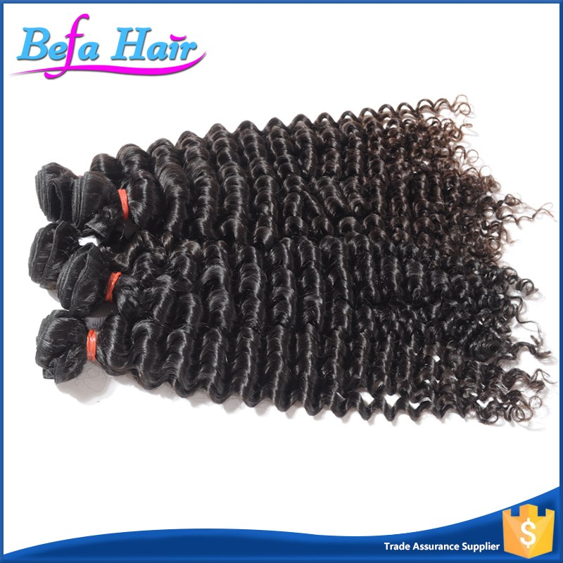 Befa Hair No Mixture No Shedding 100% Human Virgin Raw Indian Curly Hair