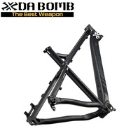 DaBomb Hardtail Bicycle Disc Brake Frame with Colors Cement Grey Purple Matte Black