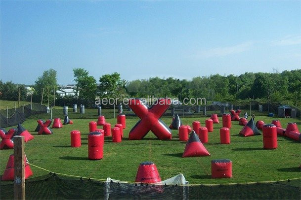 cheap inflatable paintball bunkers for sale/inflatable used paintball bunkers/inflatable paintballs