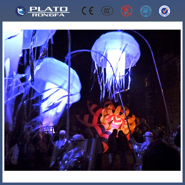 colourful jellyfish balloon for party for Christmas, inflatable led lighting jellyfish