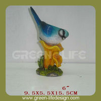 New style home decoration polyresin blue bird figurines