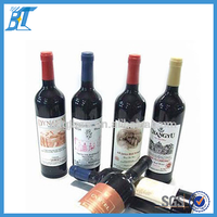 750ml black red wine glass bottles for liquor