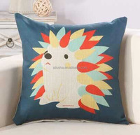 New designs factory wholesale plain square linen cushion painting pillow cover