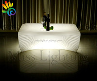 Modern design LED bar table furniture LED coffee table