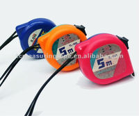 3m 5m diamond shape new ABS colorful steel measuring tape