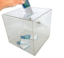 wholesale new design fantasy clear acrylic ballot vote box, acrylic raffle ticket drum