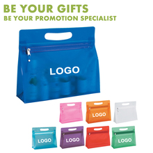 Popular Promotional Customized Logo PVC cosmetic zipper bag