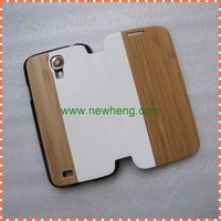 Top grade wood+pc+pu case for Sumsung galaxy S4,wood flip cover case for Samsung galaxy S4 i9500