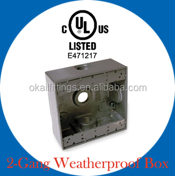 Two gang Weatherproof Box