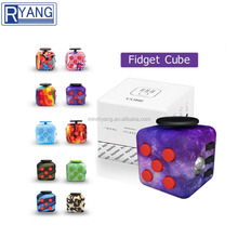 Mixed colors water transfer printing anti stress toys cube stress reliever fidget cube for kids & adults