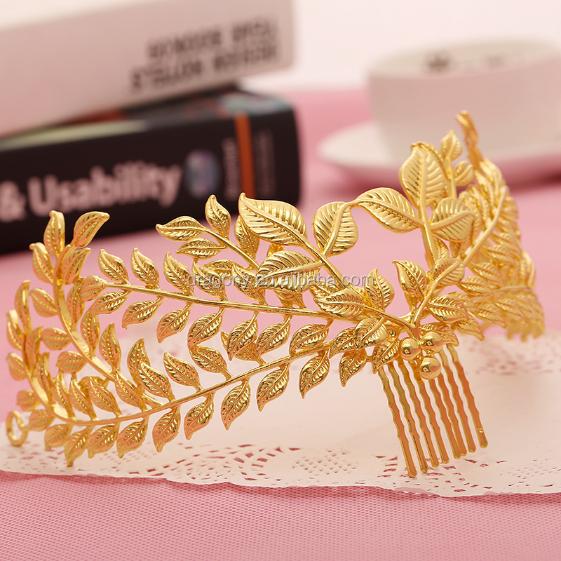 2016 Latest Tiara Crown Leaf Design Wedding <strong>Hair</strong> <strong>Accessories</strong> Bridal <strong>Hair</strong> Jewelry
