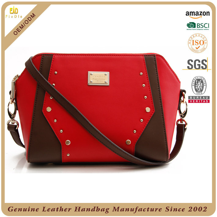 2016 trending products china factory women's leather bags branded hand name brand purses red handbags