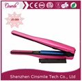 Hot Pink Portable USB Hair Straightener Rechargeable Cordless Mini Hair Straightener