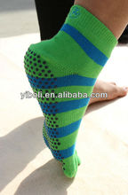 Zhejiang manufacturer knitting Shangyu Yi Bo Li sport socks yoga socks toe socks two toe sox