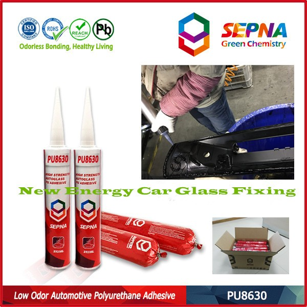 Low odor, environmental & health PU8630 side window of motorbus adhesive windshield polyurethane sealant industrial adhesive