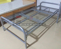 Strong Metal Single Student Bed Sample in Showroom