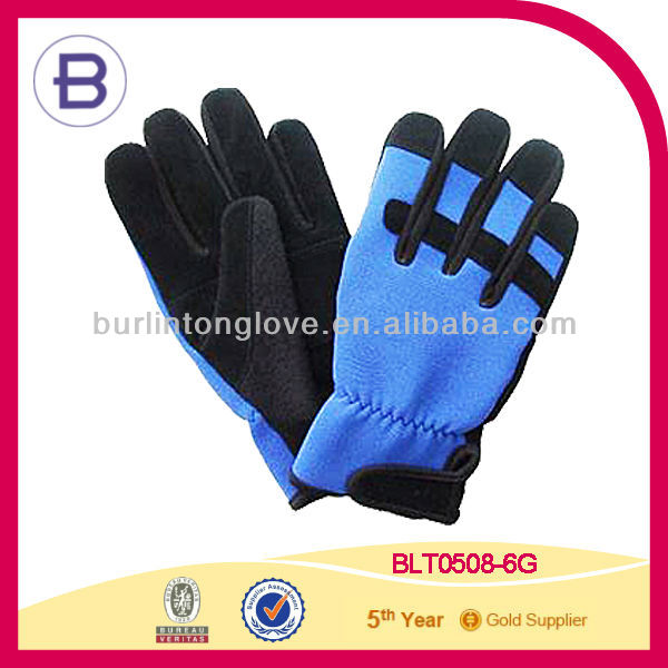 Goat Suede Leather Spandex Fabric Mechanical Working Glove