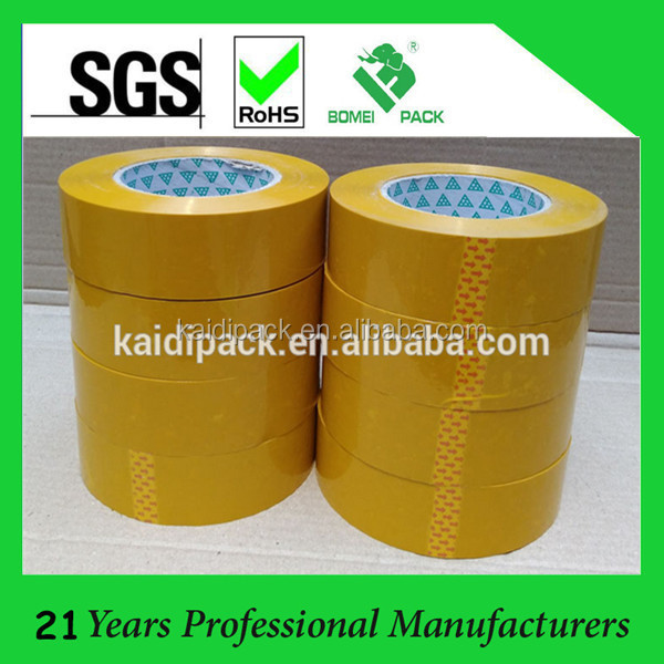 BOPP Film Light Brown Self Adhesive Tape for Carton Sealing With Company Logo
